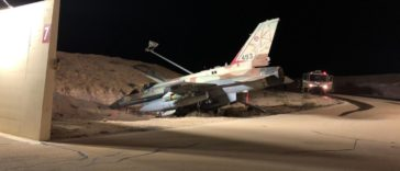 Israeli F-16I Sufa lost control of its braking system during taxi; pilot veered the aircraft into a ditch
