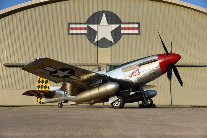 World War II P-51 Mustang fighter plane crashes