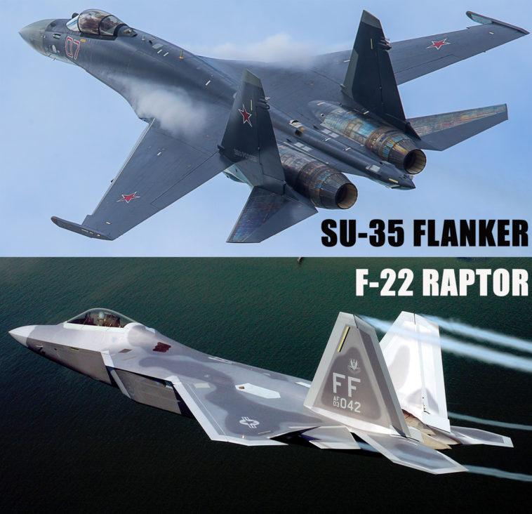 Comparison of Su-35 Flanker-E VS F-22 Raptor - Crew Daily