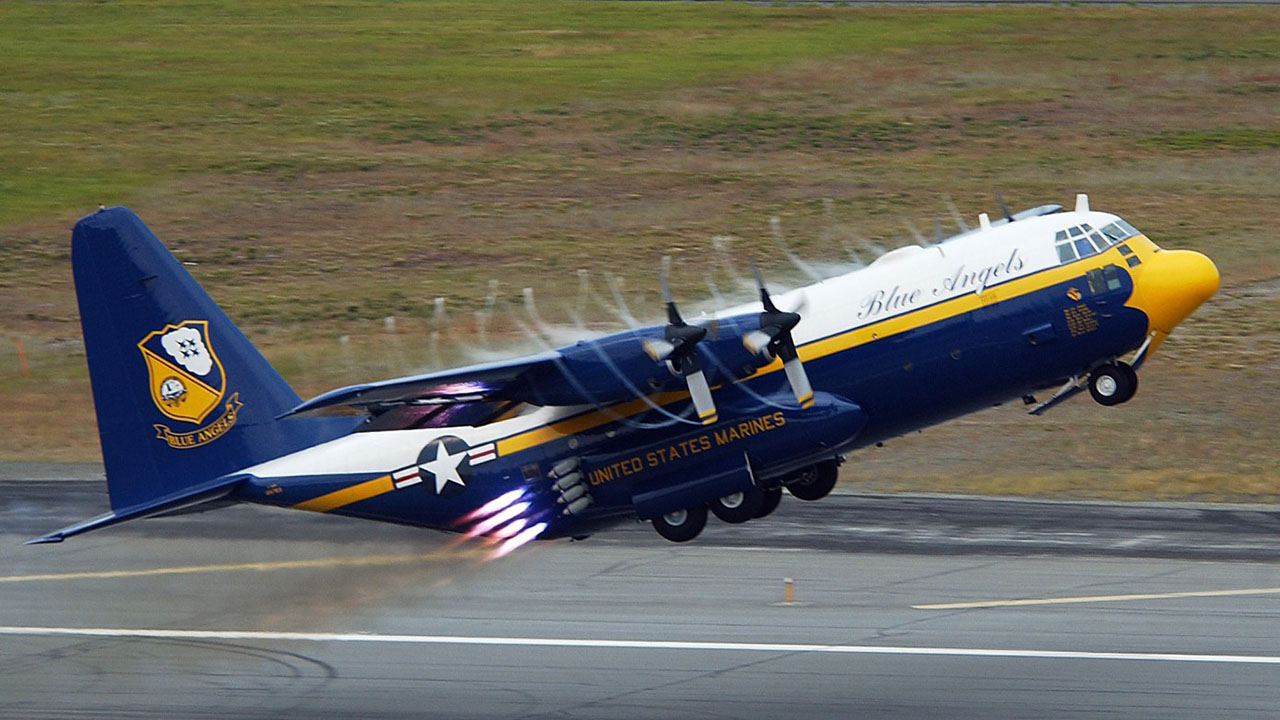 amazing facts about the c130 hercules of the blue angels